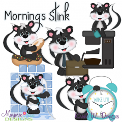 Mornings Stink Exclusive SVG Cutting Files + Clipart