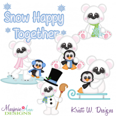 Polar Pals SVG Cutting Files Includes Clipart