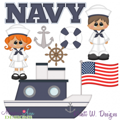 Navy SVG Cutting Files + Clipart