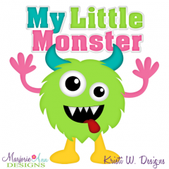 My Little Monster SVG Cutting Files + Clipart