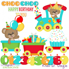 Bentlys Birthday Train Exclusive SVG Cutting Files + Clipart