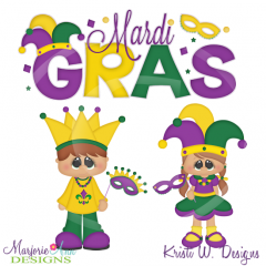 Holiday Kids~Mardi Gras SVG Cutting Files Includes Clipart