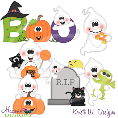 Boo SVG Cutting Files Includes Clipart