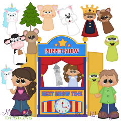 Puppet Show SVG Cutting Files Includes Clipart