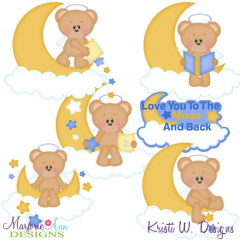 I Love You To The Moon & Back Cutting Files-Includes Clipart