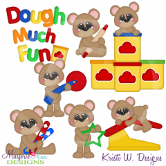 Dough Much Fun SVG Cutting Files Includes Clipart
