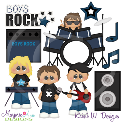 When I Grow Up~Rock Star Boys Exclusive Cutting Files + Clipart