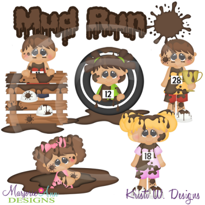 Mud Run Cutting Files-Includes Clipart