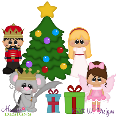 A Christmas Dream SVG Cutting Files Includes Clipart