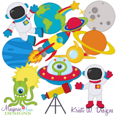 Space Adventure SVG Cutting Files + Clipart