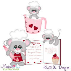 Recipe For Love SVG Cutting Files Includes Clipart