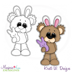 Beary Happy Easter 1 Exclusive Digital Stamp + Clipart