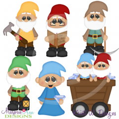 Working Dwarfs SVG Cutting Files Includes Clipart