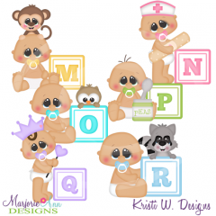 Alphabet Baby~M-R SVG Cutting Files Includes Clipart
