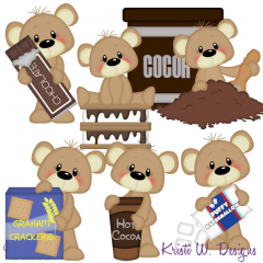 Payton Loves Smores & Cocoa SVG Cutting Files + Clipart