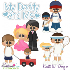 My Daddy and Me SVG Cutting Files Includes Clipart