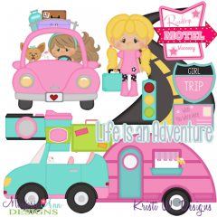 Cuties-Road Trip Girls SVG Cutting Files Includes Clipart