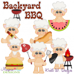 BBQ Pork SVG Cutting Files Includes Clipart