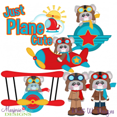 Just Plane Cute Exclusive SVG Cutting Files + Clipart