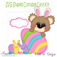 Beary Happy Easter 1~Shaped SVG/MTC Card Kit/Cutting File