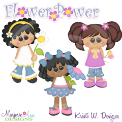 Flower Power Cutting Files-Includes Clipart