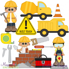 When I Grow Up~Construction Worker Cutting Files + Clipart