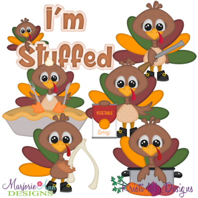 Turkey Time SVG Cutting Files Includes Clipart