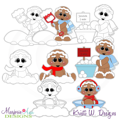 Sweet Winter Gingers Exclusive Digital Stamps + Clipart