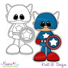 Little Super Hero 5 Digital Stamp + Clipart