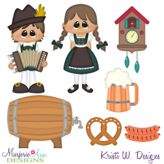 Kids Around The World-Germany SVG Cutting Files Includes Clipart