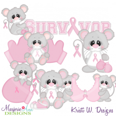 Think Pink SVG Cutting Files Includes Clipart