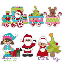 Christmas Village-Town Train SVG Cutting Files Includes Clipart