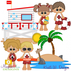 Little Lifeguards SVG Cutting Files + Clipart