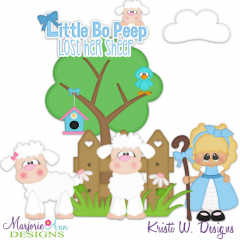Little Bo Peep SVG Cutting Files + Clipart