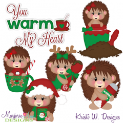You Warm My Heart-Hedgehogs SVG Cutting Files Includes Clipart