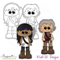 The Walking Cute-Set 3 Exclusive Digital Stamps + Clipart