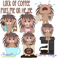 Lack Of Coffee Puts Me On Hedge SVG Cutting Files+Clipart