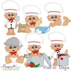 Babies In The Kitchen SVG Cutting Files Includes Clipart