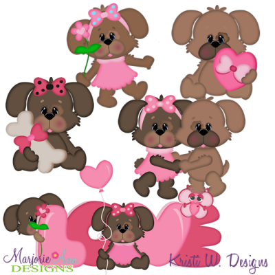 Puppy Love SVG Cutting Files + Clipart