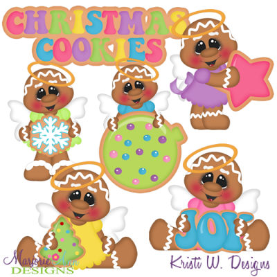 Sugar Angels Cookies SVG Cutting Files Includes Clipart