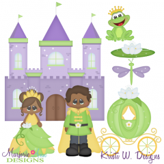 A Princess and Her Frog Exclusive SVG Cutting Files + Clipart