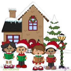 Christmas Carols SVG Cutting Files Includes Clipart