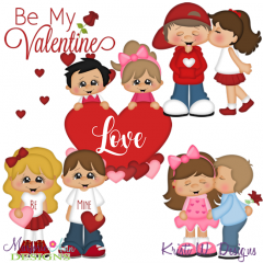 Be My Valentine SVG Cutting Files Includes Clipart