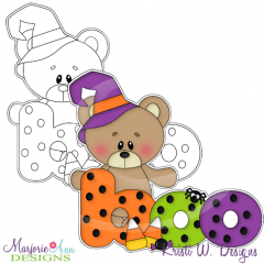 Boo Bear Digital Stamp + Clipart