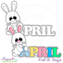 Hoppy Easter 1 Exclusive Digital Stamp + Clipart