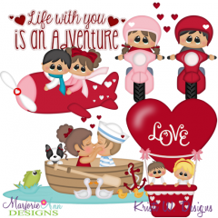 Our Love Is An Adventure SVG Cutting Files + Clipart