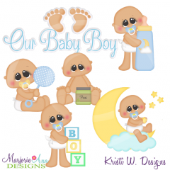 Our Baby Boy Exclusive SVG Cutting Files Includes Clipart