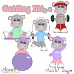 Getting Fit SVG Cutting Files Includes Clipart