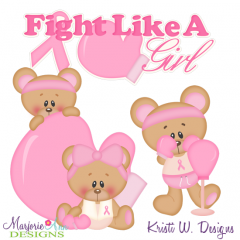 Fight Like A Girl SVG Cutting Files Includes Clipart