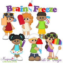 Brain Freeze SVG Cutting Files Includes Clipart